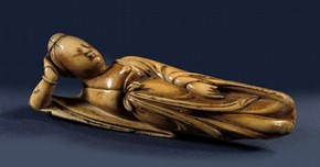 Figure 3 - 'Doctor's Lady', China, late Ming dynasty, carved from Hippopotamus ivory. Collection of Ferry Bertholet