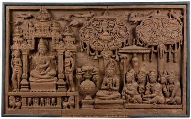 Figure 4 - Panel, Java, Indonesia, 8th century, plaster cast, 121.9 x 201.9 cm. Museum no. Im.170-1926