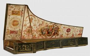 Figure 8 - Harpsichord, Giovanni Baffo, 1574. Museum no. 6007-1859