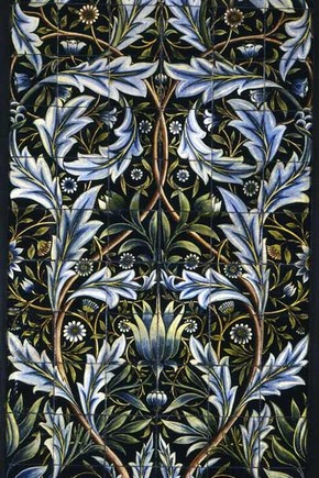 Tile panel of 66 tiles, designed by Willaim Morris and made by the firm of William de Morgan, 1876. Museum no. C.36-1972, © Victoria & Albert Museum, London. Given by Charles and Lavinia Handley-Read.