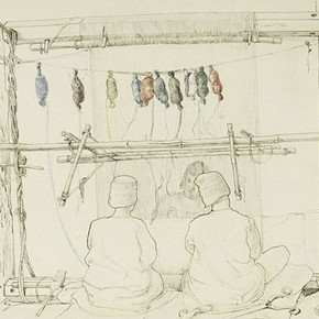 J. Lockwood Kipling, &#39;Carpet weavers&#39;. Museum no. 1870 0929:33