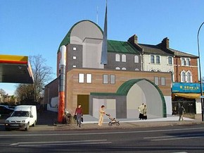 Proposed mosque, Lewisham. © Makespacearchitects