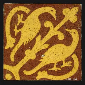 Floor tile, made by the firm of William Godwin of Lugwardine Works, 1863-1870. Museum no. C.206-1986