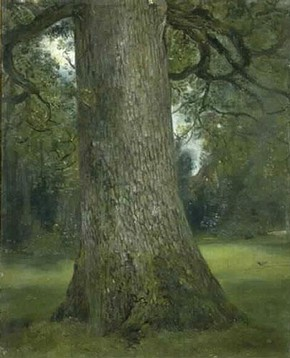 John Constable (RA), 'Study of the trunk of an elm tree', oil painting, about 1821. Museum no.786-1888