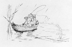 Beatrix Potter, 'A frog he would a-fishing go', 19th century. Linder Bequest LB 1040 (BP 507m) © Frederick Warne