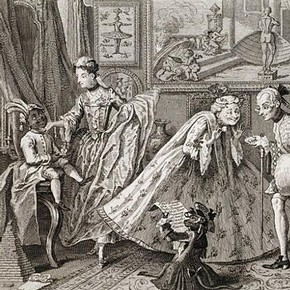 William Hogarth, 'Taste in High Life', England, 1746, paper print. Museum no. F.118:129