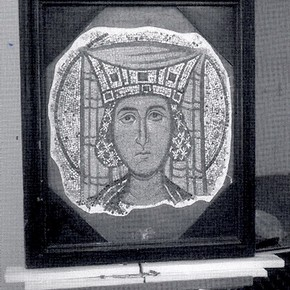 Fig. 1 The Mosaic displayed in the Victorian print frame. Photography V
