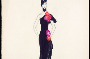 Costume design for a 'Vamp', Victor Stiebel. Museum no. S545 - 1983