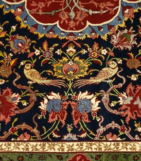 Detail of carpet, 1860 - 1880. Museum no. T.402-1910