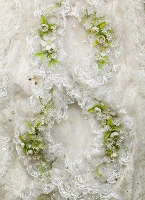 Detail of decoration on costume for Sophie in Richard Strausss 'Der Rosenkavalier', London, 1974. Museum no. S.263  1999