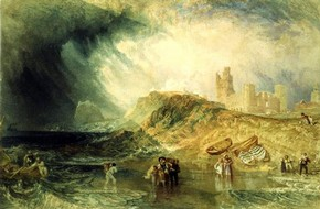 Joseph Mallord William Turner, 'Holy Island, Northumberland'. Museum no. P.17-1943