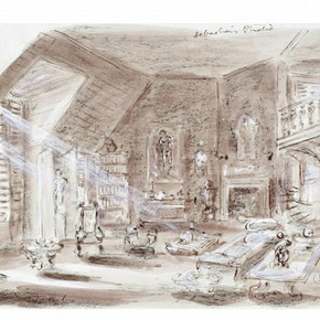 Set design by Oliver Messel for the film Suddenly, Last Summer. Museum no. S.388-2006