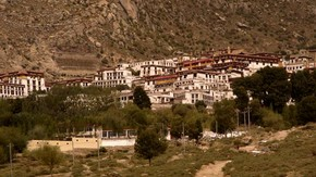 View of Drepung, Tibet. Photograph © John Huntington