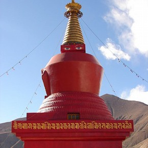 Stupa (chorten), Samye, Tibet. Photograph by Alick Mighall