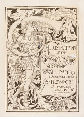 Design for 'Illustrations of the Victorian Series and Other Wall-Papers', Walter Crane, about 1887. Museum no. E.10-2009