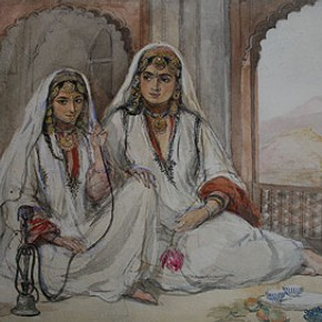Figure 1. 'Two Nautch Girls' by William Carpenter (IS. 157-1882) (Photography by V