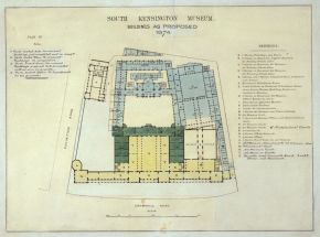 South Kensington Museum, buildings as proposed, 1874. Museum no. E.1357 - 1979 CIS. © Victoria and Albert Museum, London.