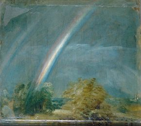 Landscape and Double Rainbow by John Constable, oil on canvas, Museum no. 328-1888. © Victoria and Albert Museum, London.