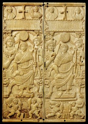 Consular diptych of Rufus Gennadius Probus Orestes, 530 AD, carved ivory. Museum no. 139-1866, © Victoria and Albert Museum, London