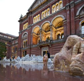 'Travelling to the Wonderland', John Madejski Garden installation, by Xu Bing, 2013, © Victoria and Albert Museum, London