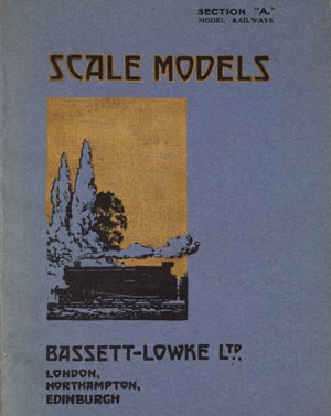 Section A Model Railways, Scale Models, front cover, Bassett Lowke Ltd, 1922 copyright Victoria and Albert Museum