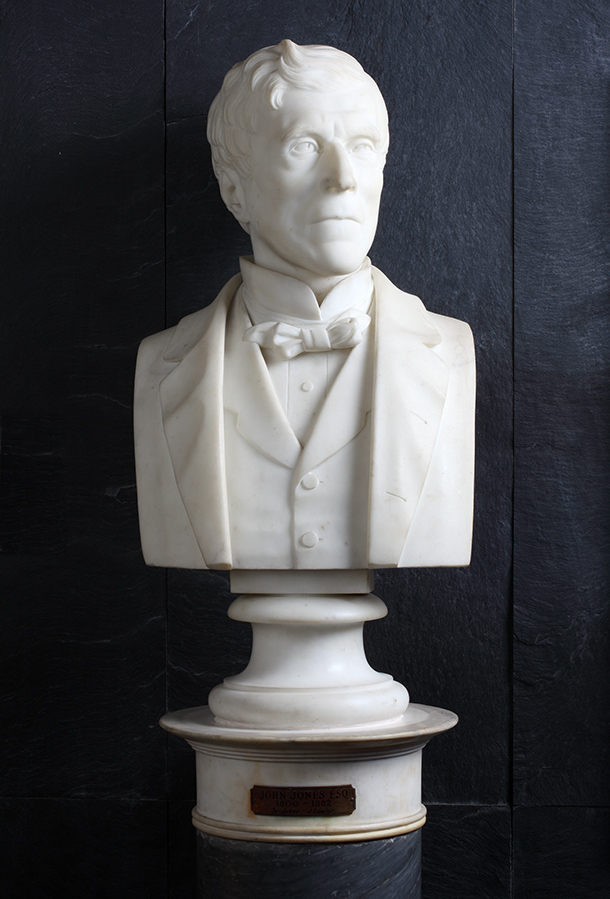 Bust of John Jones by John Lawlor, 1882, London, marble. Museum no. A.79&A-1882, © Victoria and Albert Museum, London