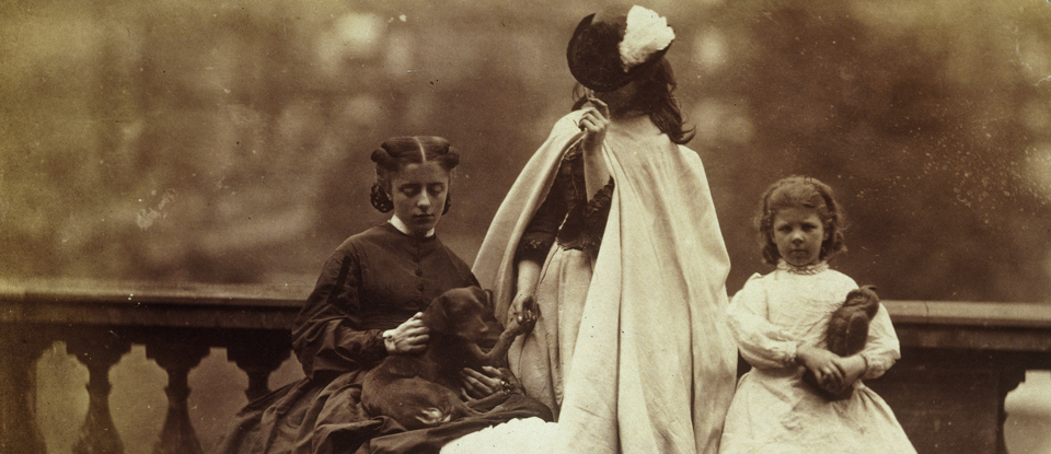 Lady Clementina Hawarden, Isabella Grace, Clementina Maude and Elphinstone Agnes, about 1862-3. Museum no. PH.302-1947