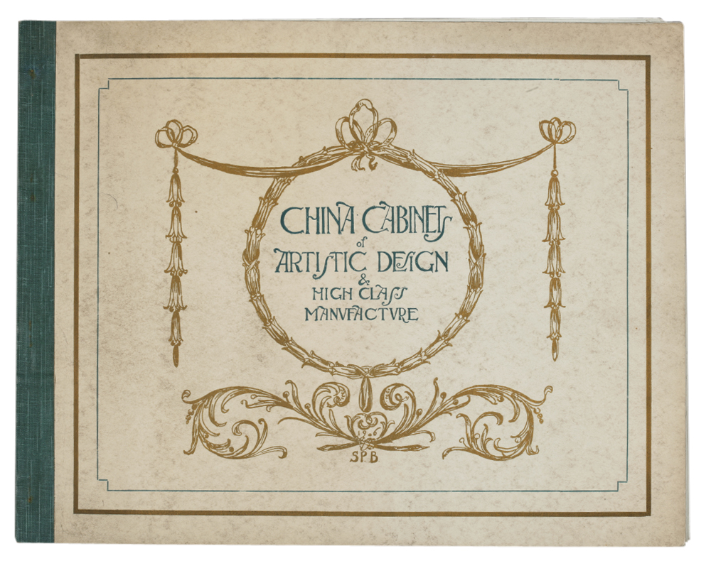 China Cabinets of Artistic Design   High Class Manufacture , trade  catalogue of Shapland   Petter, Barnstaple, Devon, UK, early 1900s.  Pressmark NAL TC. 6204ac331c64