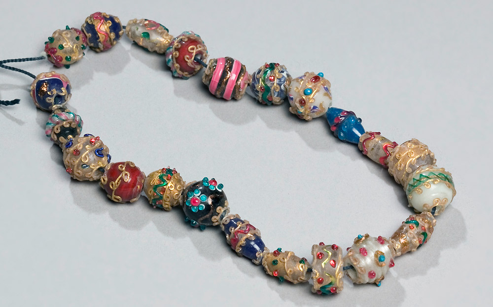Antique Venetian Glass Beads Necklace