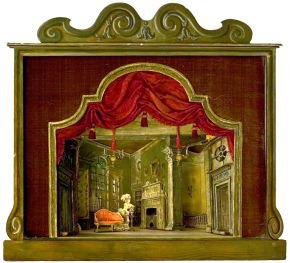 Oliver Messel, set design for Mrs. Malaprop's lodgings, 1936. Museum no. S.204-2006