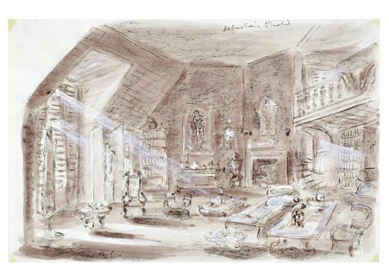 Movie set design drawing images for Movie set design