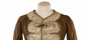 Interactive: Woman's Wool Riding Jacket, by Unknown Maker, 1750s