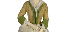 Interactive: Woman's Silk Jacket and Petticoat, by Unknown Maker, 1720-30