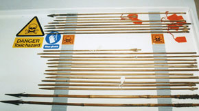 Poisoned arrows from Assam and Burma