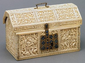 'The Robinson Casket', around 1557, ivory. Museum no. IS.41-1980