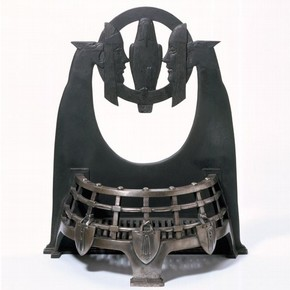 Cast iron 'Melchett' firebasket, by Charles Sargeant Jagger, 1930. Museum no. M.16-2005