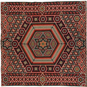 Military quilt, possibly Francis Brayley, 1864-1877. Museum no. T.58-2007