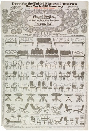 Thonet Brothers advertising broadsheet, 1873. Museum no. E.2314-1997