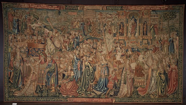 The Triumph of Chastity over Love tapestry, unknown maker, about 1507-1510. Museum no. 440-1883