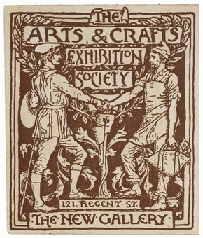 Detail from a season ticket for The Arts & Crafts Exhibition Society, by Walter Crane, England, UK, 1890. Museum no. E.4164-1915.