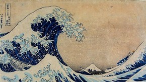 'The Great Wave' By Katsushika Hokusai, about 1830–1. Museum no. E.4823-1916