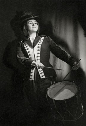 Joan Sutherland as Marie in Donizetti's opera La Fille du Régiment, Royal Opera House, Covent Garden, London, 1959