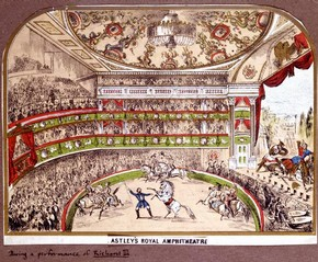 Print illustrating Astley's Royal Amphitheatre, date unknown