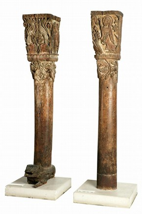 Carved columns, Calabria or Sicily, Italy, 1200-50, Museum no. 269:1,2-1886