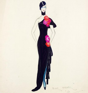 4) Victor Stiebel (1907-76), fashion design, London, 1928. Museum no. S.545-1983