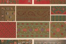 Owen Jones, Grammar of Ornament, Indian No.2, Plate L, 1865. National Art Library, Ref No. ND.91-0040 (Vol II)