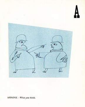 Bertrand Russell, The Good Citizen's Alphabet, London, Gaberbocchus, 1953. NAL pressmark : G.29.W.80.