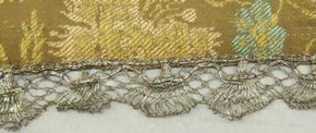 Figure 18 - Detail of chalice veil, possibly France, 1680s-1690s. Museum no. 1252-1877, photography by Alice Dolan. 