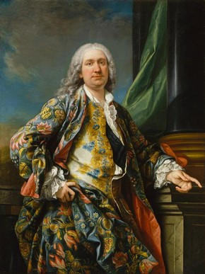 Figure 4 - Portrait of an unknown man, Carle Van Loo, France, about 1730-40, oil on canvas, 145 x 109 cm. Château de Versailles. Inv. no. MV 4484, © Réunion des musées nationaux, Paris