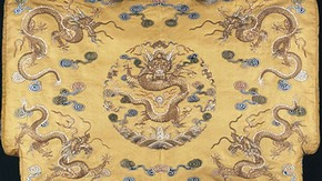 Cushion cover, about 1800-20. Museum no. T.139-1917